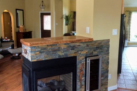 Custom Cabinets & Fireplace
